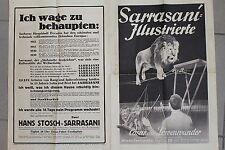 18716 Prospekt Zirkus Sarrasani Illustrierte 1935 Cäsar das Löwen Wunder DRESDEN