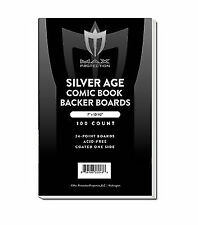 300 Max Pro Silver Age Comic Book Acid Free Backing Boards archival white backer