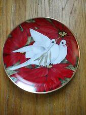 Christmas Doves Maureen Drdak-Jensen Christmas Seal Plate 1991 Limited Edition