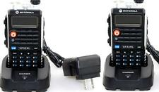 2XMotorola Dual Band Radio  GP328L UV VHF136-174/UHF400-470 2-way Walkie Talkie