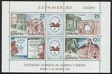 Spanish Stamps - 1980 Espamer 80 Stamp Exhibition Madrid Sheet