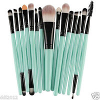 15pcs Makeup Brush Set Tools Pro Soft Cosmetics Kit Shadow Eyeliner Lip Brushes