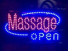 Massage Open Led Illuminated Light Up Sign 24 X 12 X 1�