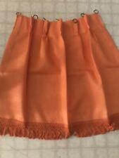 Vintage Fiberglass Curtains Drapes Cafe & Valence Orange W/ Rings 48� W X 30
