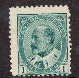 Sc #89 - Edward VII - 1903 - 1 Cent - Canada - MH F - superfleas - cv$15