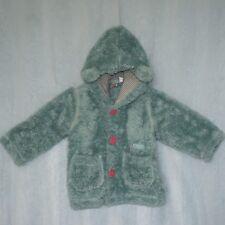 PUMPKIN PATCH Girls Cute Fluffy Jacket, Size 1 Button up Coat, 2 Pockets 12-18m