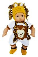 Little Lion Outfit for Bitty Baby Bitty Twin Dolls 15 Inch Doll Clothes