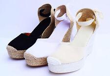 ALEXA PLATFORM Wedge Lace Up Espadrilles Vegan Shoes