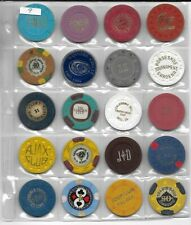Very Nice Collection Of Vintage Casino Chips From California Card Rooms-Lot 9