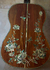 A Masterpiece! Custom Classical Acoustic Guitar Mother of Pearl & Abalone Inlay