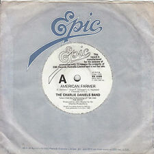 THE CHARLIE DANIELS BAND American Farmer / Runnin' With That Crowd 45 - PROMO