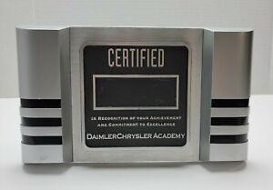 "Daimer Chrysler Academy ""Blank"" Certified Recognition Plaque Mechanic Mercedes"