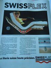 Publicté Advertising 1991  Swissflex la literie suisse haute précision