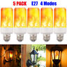 5 Pack LED Flame Effect Fire Light Bulb E27 Simulated Nature Flicker Lamp Decor