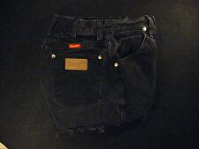 Wrangler Vintage Black/Gray CUTOFF JEAN SHORTS High Waist W 24 Daisy Dukes
