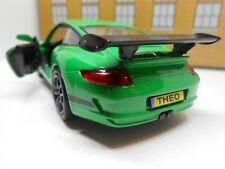PERSONALISED PLATES PORSCHE 911 GT3 RS Toy Car MODEL boy dad BIRTHDAY GIFT BOXED