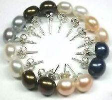 Wholesale 8 pairs 8-9 mm Freshwater Pearl Stud Earring