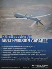 11/2013 PUB GENERAL ATOMICS AERONAUTICAL DRONE PREDATOR XP ORIGINAL AD