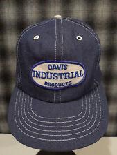 Vintage denim dealer trucker hat snapback Usa Davis Industrial Products 80s