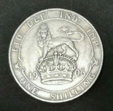 Edward VII One Shilling 1906 Silver Coin Free Registered Postage