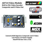 AD724 RGB PAL Video Encoder PCB RGB to Composite and S-Video for Retro Computers