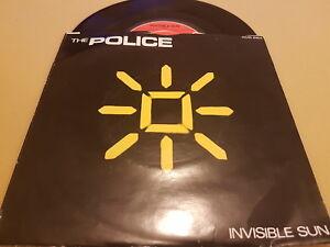 "The Police, Invisible Sun, Shamelle, 1981, AMS 8164, Vinyl, 7"", 45 RPM, EX+"