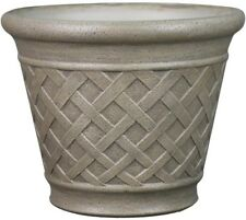 Garden Treasures 14.72-in x 12.72-in Sand Resin Planter