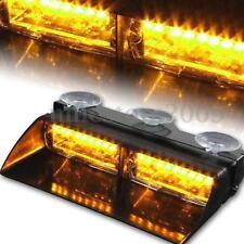 16LED 12V Police Car Strobe Flash Light Dash Waterproof Flashing Light Bar Amber