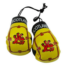 Scotland Lion Rampant Country Flag Mini Boxing Gloves . New