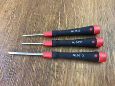 3-Piece Starrett No. 551B, 551E & 551G Precision Screwdrivers - Machinist Hobby