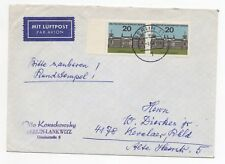 1964 GERMANY Air Mail Cover BERLIN LANKWITZ to KEVELAER + Gutter
