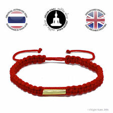 Authentic Blessed Thai Buddhist Wristband Handmade Karma Bracelet Lucky Red Sai