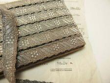Antique/Vintage French Metallic Silver/Gray Ribbon Trim Tape