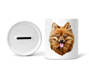Sparschwein Spardose Sparbüchse Spitz Dog Hund Hundebesitzer Geschenk Spruch