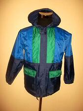 Vintage Jeantex nylon lluvia chaqueta Rain Jacket Blues kids talla 152