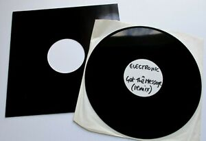 """Electronic - Get The Message Remix UK 1991 Factory Records White Label 12"""""""