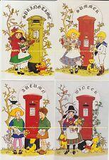 Rosalind Wicks set of 4 Seasons, Children & Letter Boxes, Teddies, dolls, 1995