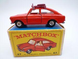 MATCHBOX LESNEY No.67b VOLKSWAGEN TYPE 3 1600 FASTBACK IN ORIGINAL BOX 1967