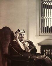 KING FAISAL clipping Saudi Arabia sitting B&W photo pan-Islamic nationalism 1945