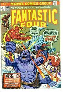 Fantastic Four #145 Ternak Marvel Comics Group Great Condition