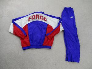 VINTAGE Nike Jacket Youth Extra Large Purple Track Suit Pants Force Kids Boy 90s