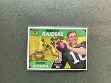 1968 Topps #142 George Blanda - Carte NFL Oakland Raiders