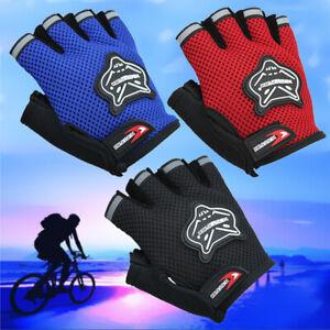 Kids Mountain Bike Gloves Cycling Children Scooter Padded Half Finger Gloves UK
