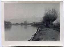 photo ancienne . env. de Grenoble . l'Isère vue de l'île verte . 1920