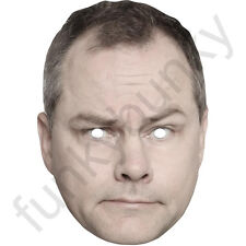 Jack Dee Comedian and Actor Card Face Mask. All Our Masks Are Pre-Cut!