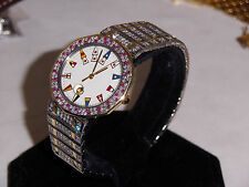 Corum 18k Yellow Gold & S.S. Full Diamond Bracelet Watch