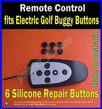 fits Remote control electric golf buggy caddy - 6 Repair Silicone Buttons (1set)