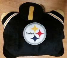 Pittsburgh Steelers Mascot Black White Gold Pillow Pet