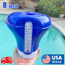 Swimming Pool / 8 inch Floating Chlorine Dispenser with Automatic Thermometer Us