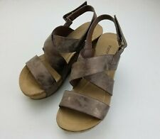 Womens PIERRE DUMAS bronze Hester-5 wedges sandals 7.5 gold brown shoes wedge